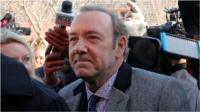 Kevin Spacey arrives at court