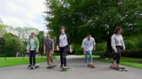 Members of the Skateboarding Society at the University of Sheffield
