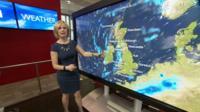 BBC weather presenter Sarah Keith Lucas