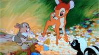 Bambi with his friends of the forest