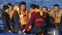 Migrants on the Aegean Sea