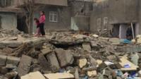 Houses in the town of Silopi have been destroyed by the fighting