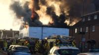Warehouse fire in Ware