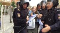 В нескольких российских городах прошла протестная акция за право пользоваться свободным интернетом.