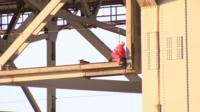 Engineers working on the Forth Road Bridge