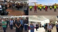 UK holds minute silence