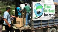 Hand in Hand for Syria distribute supplies