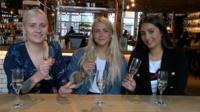 The testers: Georgie, Katie and Sofia