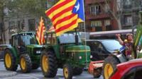 Tractors in Barcelona