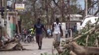 People walking in Jeremie in Haiti