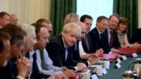Boris Johnson with his cabinet