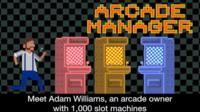 Computer graphic of arcade manager Adam Williams