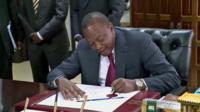 Kenyan Presudent Uhuru Kenyatta