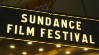 A sign for the Sundance Film Festival