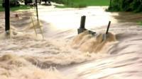 Floodwaters in Lynchburg, Virginia