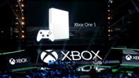 Microsoft's Xbox One S game console announcement at E3