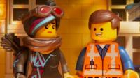 Lucy/Wyldstyle and Emmet in a scene from the animated adventure The LEGO Movie 2: The Second Part