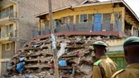 Collapsed builing in Nairobi