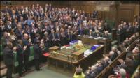 MPs applaud David Cameron in the House of Commons