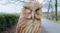 An owl sculpture in Hednesford Park