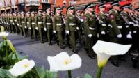 Defence forces at Easter Rising parade