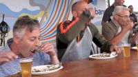 Whitstable oyster eating competition