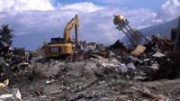 После землетрясения на город Палу обрушилось цунами.