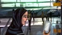 Saudi girl illustration