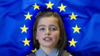 Brexit-EU-flag-with-girl-in-front