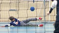 Goalball is the sport where you use every part of your body, except your eyes.