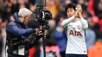 Tottenham's Son Heung-min and camera operator