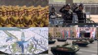 Military parades collage