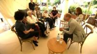 Duke and Duchess of Cambridge speaking to care home residents