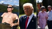 В России активно обсуждают фотографии и видеозаписи российского президента на отдыхе. А как проводят отпуск главы США и Британии?