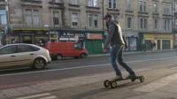 Electric skateboarders can cut through traffic at 25mph and travel 20 miles.