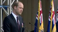 Prince William at National Memorial Arboretum