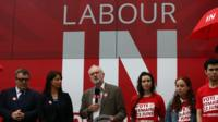 Labour leader Jeremy Corbyn campaigning to stay in the EU