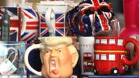 A mug parodying Donald Trump in a London shop