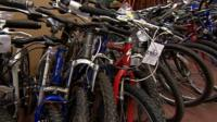 A few of the recovered stolen bikes
