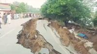 Cracked roads in Mirpur, Pakistan-administered Kashmir