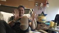 Sean in hospital