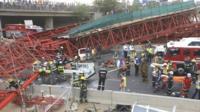 Bridge collapses in Johannesburg