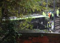 Scene of tram crash