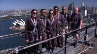 Prince Harry climbs Syndey Harbour Bridge