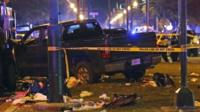 Truck which crashed into a New Orleans crowd, 25 February 2017