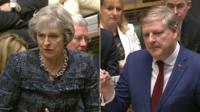 Theresa May and Angus Robertson