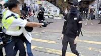 Насилие на протестах в Гонконге