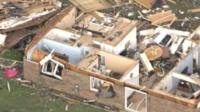 Разрушенный дом в Индиане