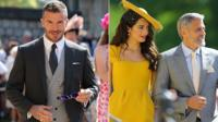 David Beckham, Amal and George Clooney