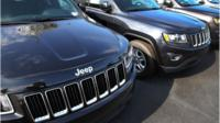 Jeep cars in a row